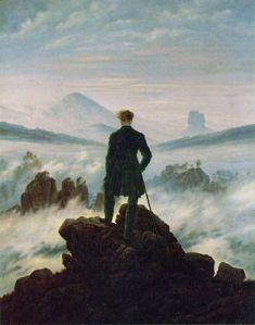 Caspar David Friedrich-Le voyageur au dessus de la mer de nuages-1817-1818 (musée Hambourg)