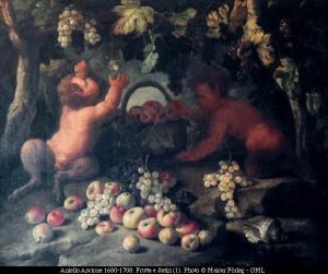 Aniello Ascione (1680-1708) Frutta e Satiri