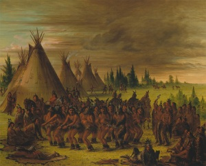 George Catlin (1796-1872) The Bear dance Sioux