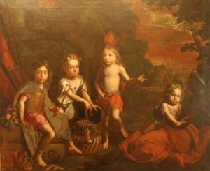 Brandmuller-Les quatres parties du monde-1682-