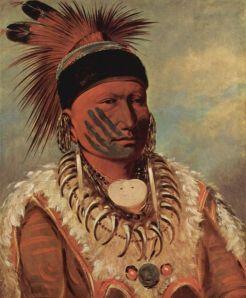 George Catlin-Peinture du Chef des Iowas