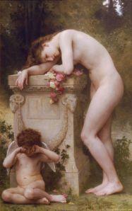 William Bouguereau-élégie et manque d'amour-peinture utopique-