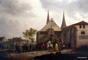 François Louis Swebach-Desfontaines-pillage église pendant révolution