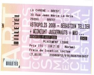 Ticket La Carène Astropolis