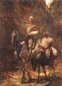 Don Quichotte et sancho panca Honoré Daumier