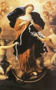 Peinture Marie qui défaites les nœuds