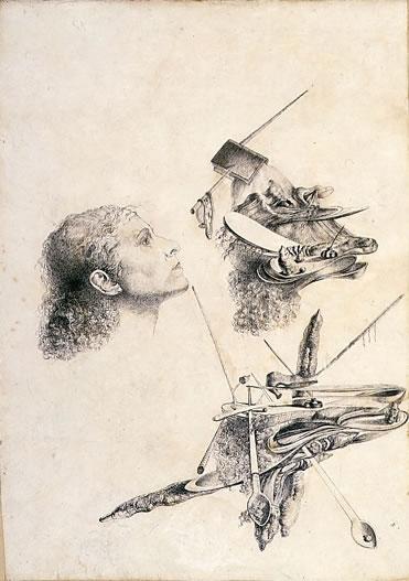 Métamorphose paranoïaque du visage de Gala 1932